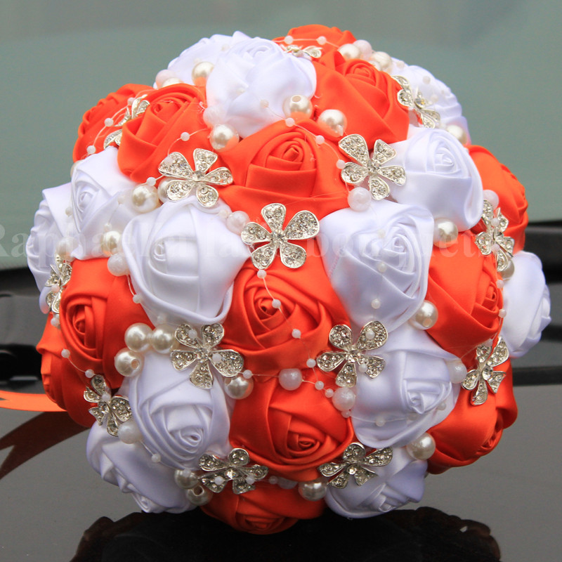 Low Cost Wedding Flowers: Compare Prices On Orange Wedding Bouquets- Online Shopping