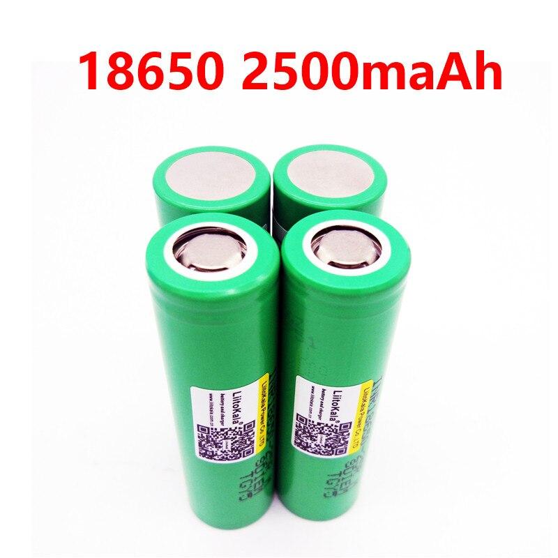 Liitokala 18650 2500 мАч INR1865025R 20A разрядный литий батареи электронных сигарет Батарея 18650 2500 25R