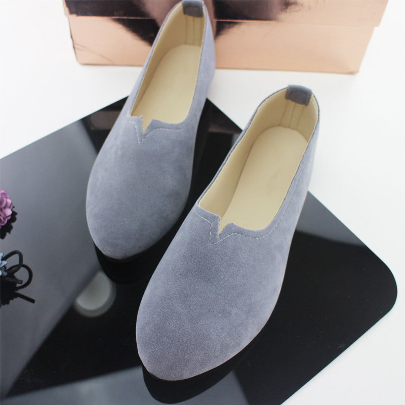 2018 New Soft Casual Flats Women Suede Shoes Moccasins Ladies Loafers Fashion Casual Female Driving Ballet Comfort Slip on Shoes chic glitter shoes women loafers black silver lace up bowknot casual ballet flats slip on rhinestone sneakers sequins moccasins