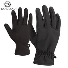Men Gloves Sharkskin Tactical Full-Finger-Mittens Fleece Army Military Outdoor Sports