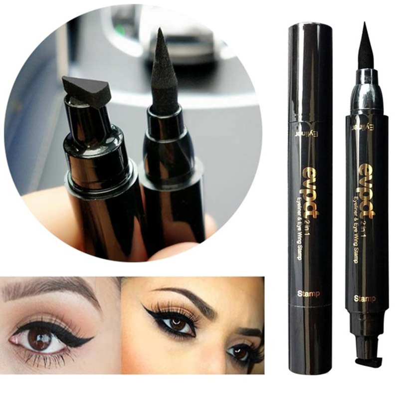 Back To Search Resultsbeauty & Health Eyeliner Liquid Eyeliner Pencil Seal Stamp Double Head Makeup Quick Dry Waterproof Wing Eye Liner Eye Pencil Beauty Set Black Eyeliners High Quality Materials