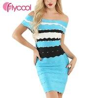 Flycool 2019 Women Bandeau Hollow Out Lover Beauty Blue Fashion Sparkling Bandage Dress Slit Side Gold Sequin Bandage Dress