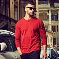 3XL 4XL 5XL 6XL Mens T-shirt Oversized T shirts Male 2016 Casual Cotton Long Sleeve T shirt Men Plain Red Grey Black White 1044