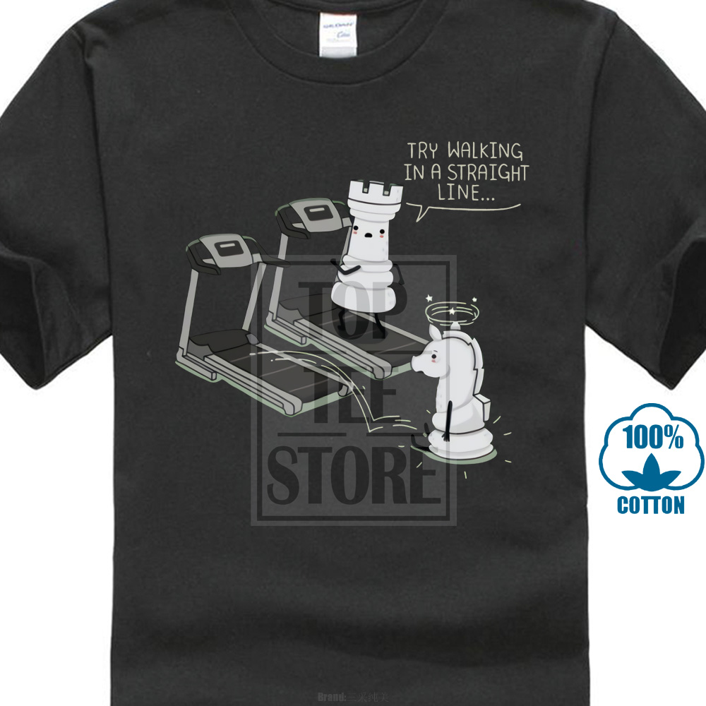 bcaed610 Detail Feedback Questions about Chess T Shirt Funny For Man Walking In A  Straight Line T Shirt Funny Streetwear O Neck For Male Tee Shirt on  Aliexpress.com ...