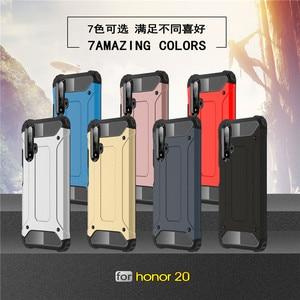 Image 5 - Für Huawei Honor 20 Fall Stoßfest Weiche Silikon Rüstung Gummi Harte PC Telefon Fall Für Huawei Ehre 20 Zurück Abdeckung für Honor 20