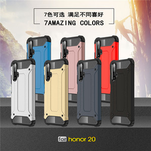 Image 5 - For Huawei Honor 20 Case Shockproof Soft Silicone Armor Rubber Hard PC Phone Case For Huawei Honor 20 Back Cover For Honor 20