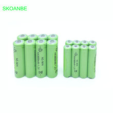 6 pcs AA 3800mAh Ni-MH Rechargeable Batteries + AAA 1800mAh