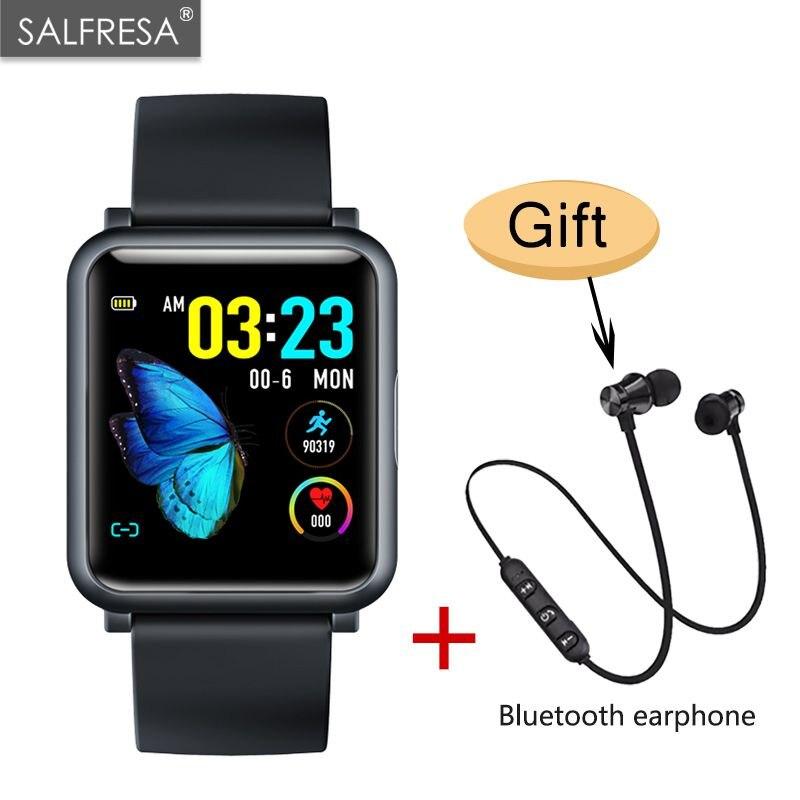 H9 1.3 pouces ECG + PPG moniteur HR tension artérielle Smartwatch IP67 étanche Sport Modes chargeur Dock montre intelligente hommes femmes