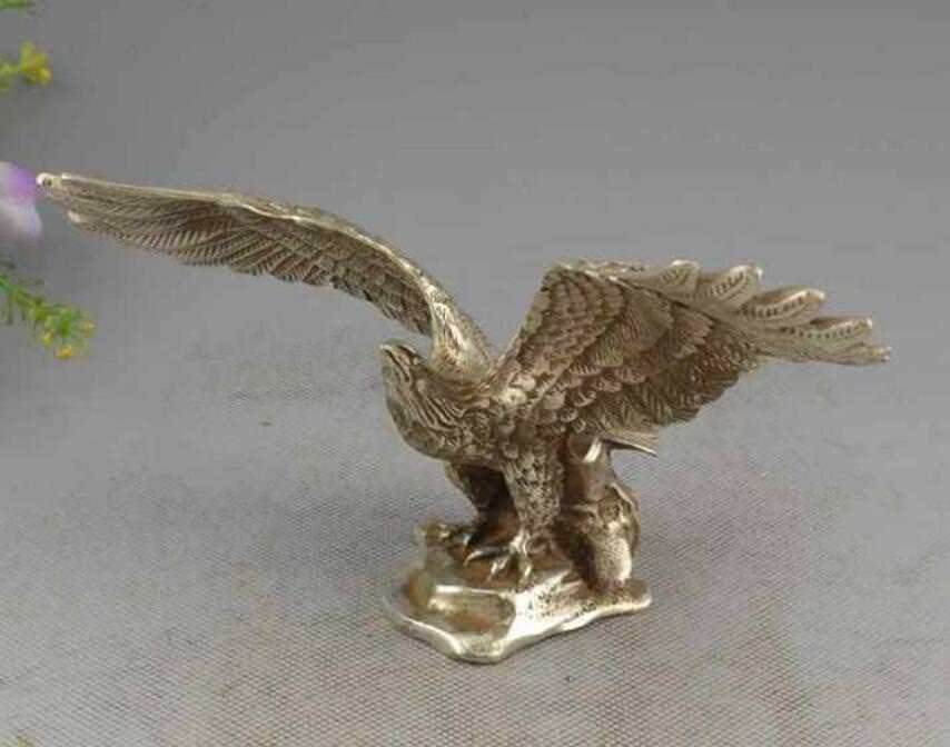Scarce Silver fine carved lucky soar to great heights eagle Sculpture StatueScarce Silver fine carved lucky soar to great heights eagle Sculpture Statue