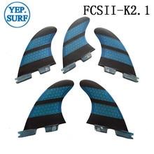 Surf Fins FCSII K2.1 Quilhas  Honeycomb fibreglass a set of five FCS2 Surfing