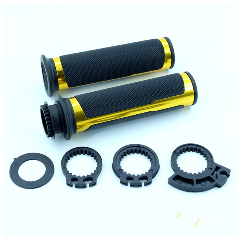 2x CNC 7/8 ''22mm Moto Guidon Poignées Avec 3 Styles gaz Core Universel Pour Yamaha R1 R3 R6 Suzuki GSXR 600 750 1000