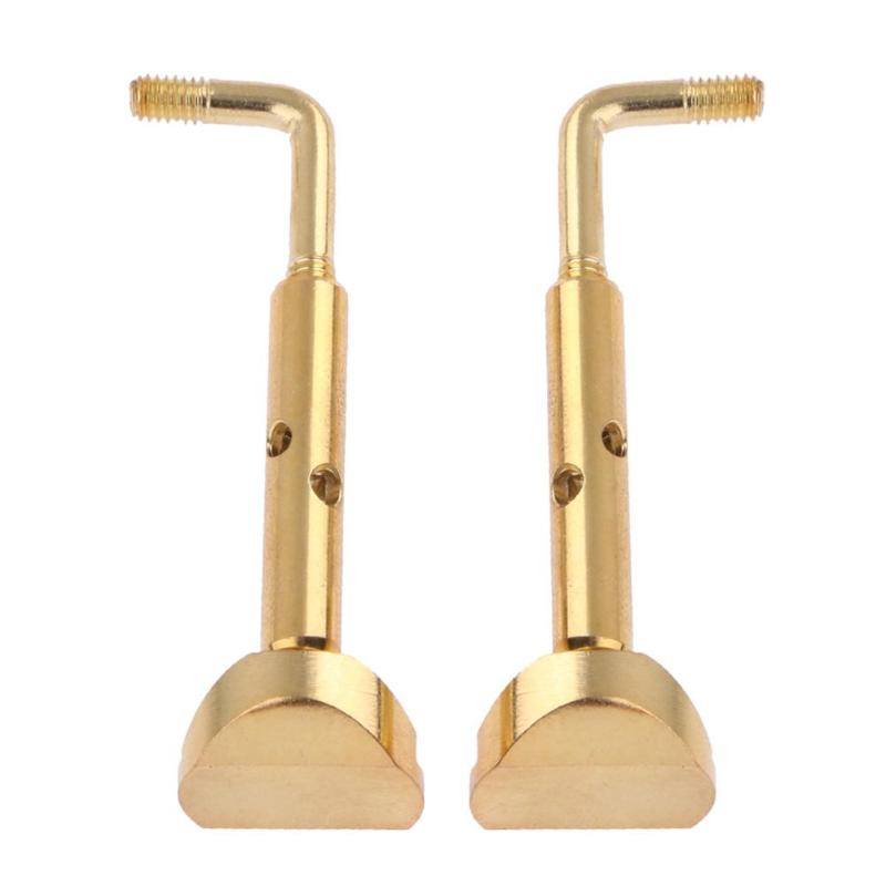 2pcs/set Violin Adjustable Plating Copper Chinrest Clamps For 3/4 4/4 Violin Screws Violin Accessory Kit Adjustable Size