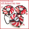 Free Shipping 3pcs/Lot NTK FD7010H12S 90mm DC BRUSHLESS FAN 12V 0.35A Graphics Card Cooling Fan ATi Radeon HD 7990 Cooling Fan
