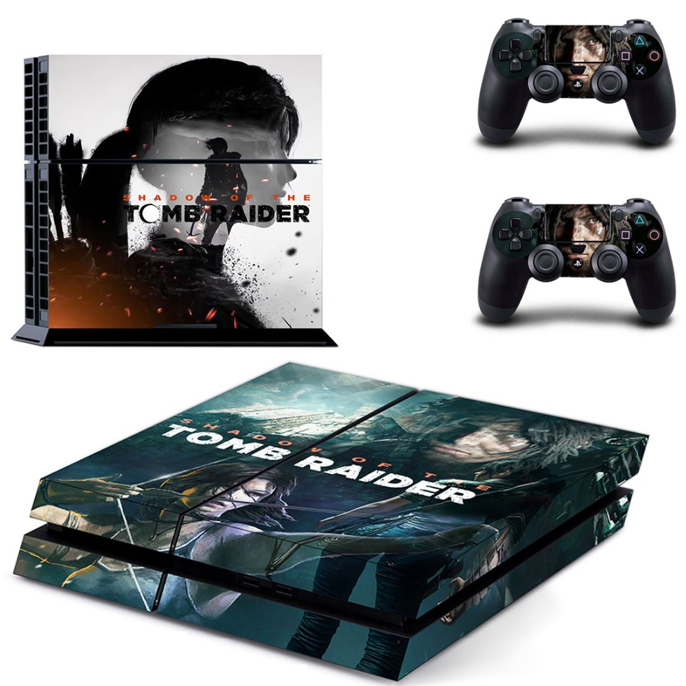 Shadow of The Tomb Raider PS4 Della Decalcomania Autoadesivo Della Pelle Per Sony PlayStation 4 Console e 2 Controller PS4 Skin Sticker del vinile