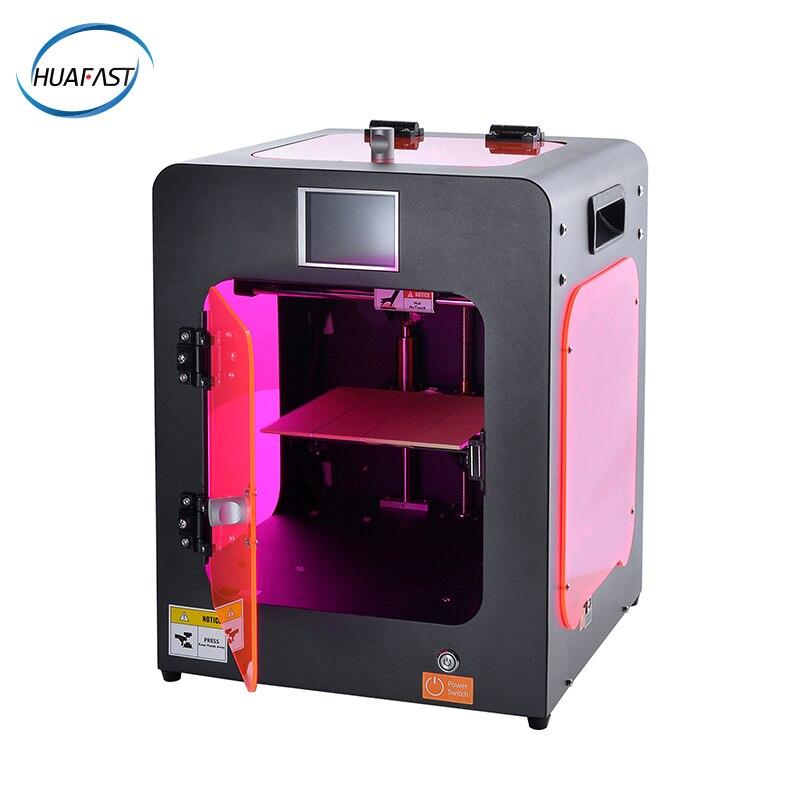 HUAFAST mini imprimante 3d entièrement inclus cadre en métal acrylique 3.2 pouces 3d écran tactile couleur compatible rampes marlin firmware