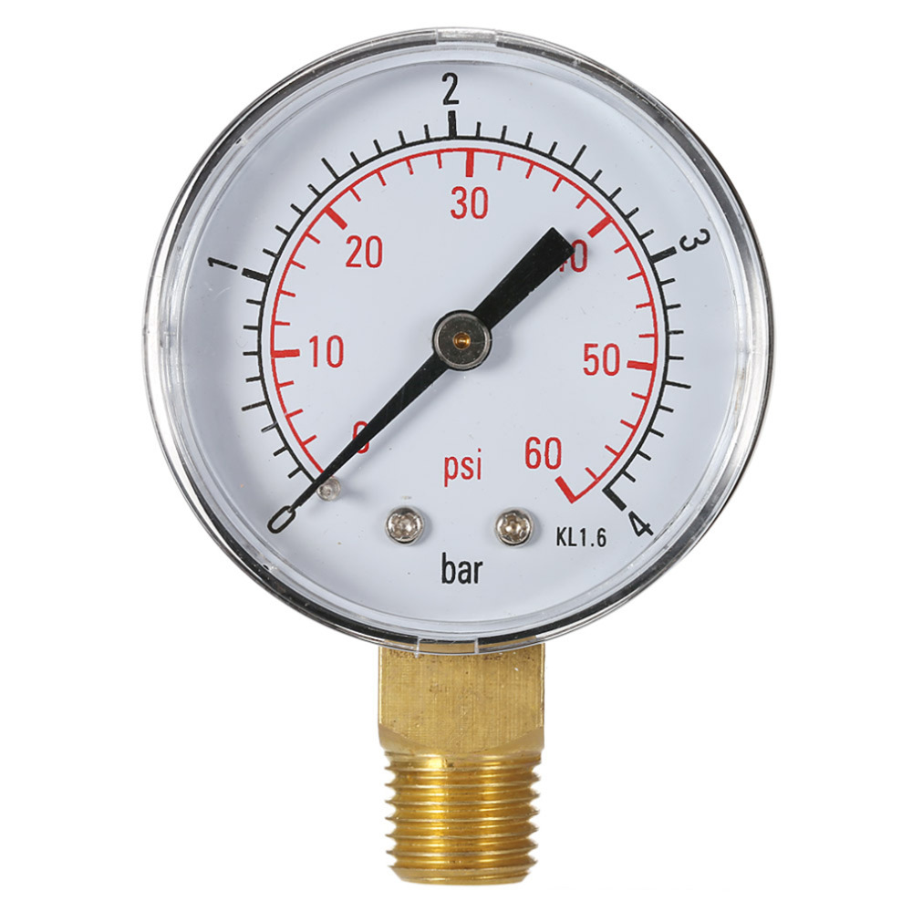 ACEHE 2017 Hot Professional Pool Spa Filter Water Pressure Gauge Mini 0-60 PSI 0-4 Bar Side Mount 1/4 Inch Pipe Thread NPT TS-50