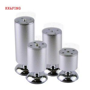 Image 1 - KK & FING 4 unids/set patas de muebles de aleación de aluminio ajustables mesa de gabinete sofá mesa de té pie de cama equipamiento para mejorar el hogar