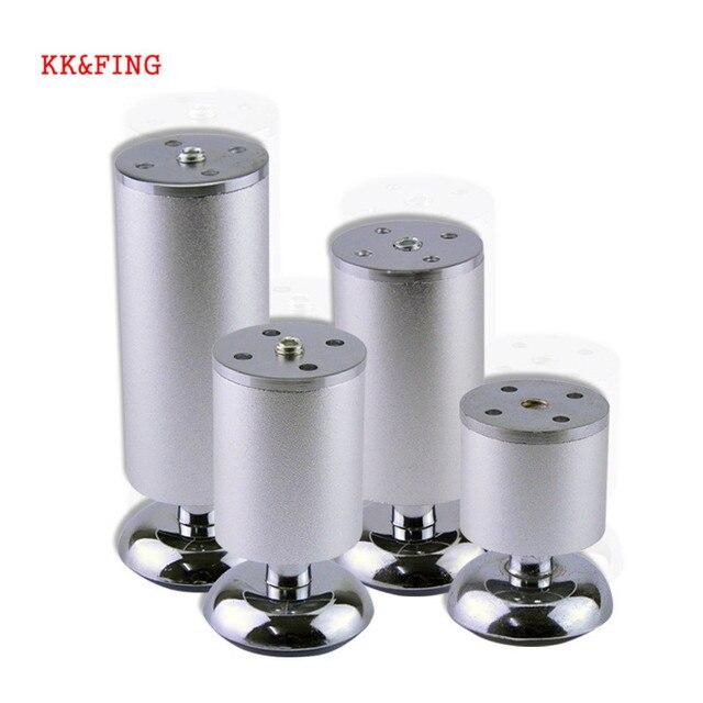 KK & FING 4 unids/set patas de muebles de aleación de aluminio ajustables mesa de gabinete sofá mesa de té pie de cama equipamiento para mejorar el hogar