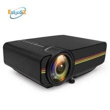 Estgosz YG400 up YG410 Mini proyector con pantalla de sincronización más estable que WiFi Beamer para cine en casa película AC3 HDMI VGA USB