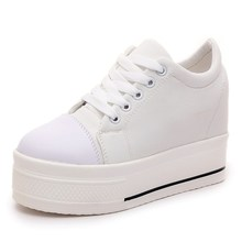 Woman High Platform Sneakers Women Casual Shoes 2019 Spring