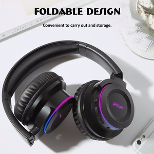Image 5 - Picun B9 Folding Portable Wireless Bluetooth 5.0 Headphone LED Headset Touch Control earphone With MIC TF Card for mobile phone