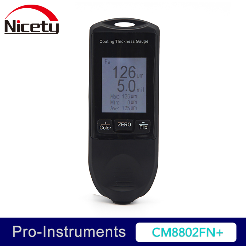 Nicety CM8802FN+ Auto Coating Thickness Gauge Car Paint Gauge Film Thickness Meter TFT Screen Display 49mil 1250um колычев в бандитская голгофа