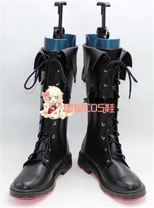 Final Fantasy 15 FF XV roi Noctis Lucis Caelum noir court Halloween Cosplay chaussures bottes