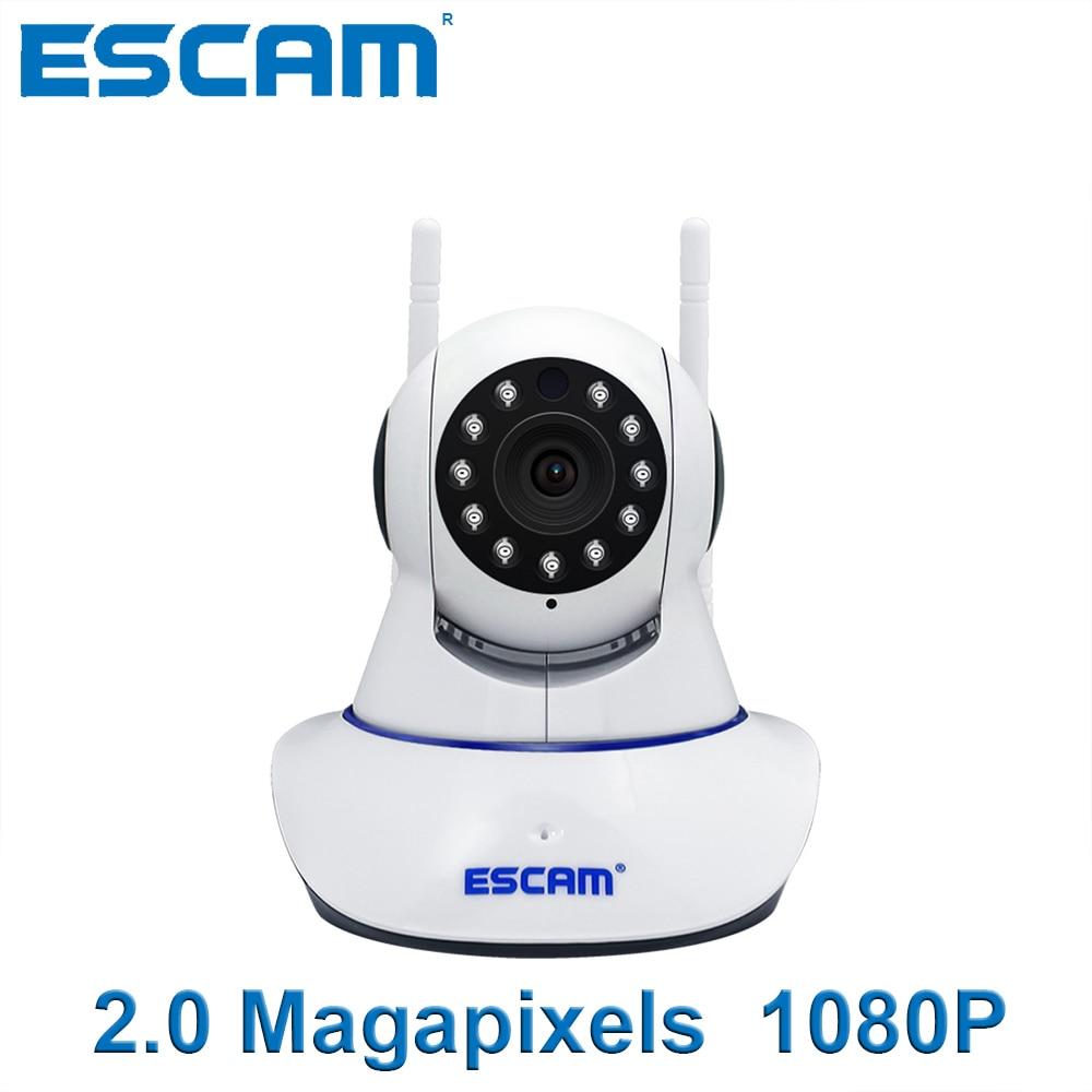 2.0 Magapixels ESCAM G01 Dual Antenna 1080P Pan Tilt WiFi IP Camera Support ONVIF Video Monitor,Mini Night Vision,IR Camera