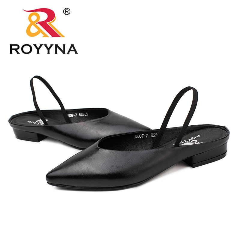 ROYYNA Yeni Zarif Stil Kadın Pompaları Sivri Burun Kadın Ayakkabı Kare Topuklu Kadın Elbise ayakkabı Rahat Işık Hızlı Ücretsiz Kargo