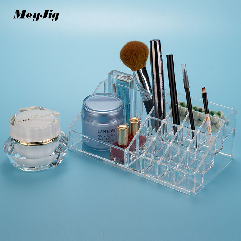 Multifunction Transparent Acrylic Makeup Desktop Jewelry Accessories Storage Box Cosmetic Organizer Storage Container
