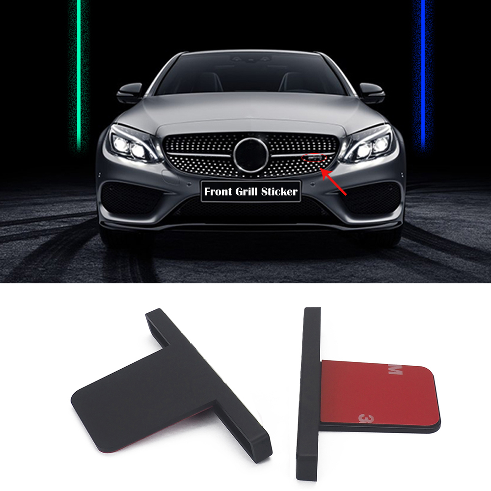 Car Front <font><b>Grill</b></font> Sticker Racing Gril Stickers for AMG Mercedes W212 W204 W205 W211 <font><b>W210</b></font> GLC300 S350L New E/C GT <font><b>Grill</b></font> Amg Emblem image