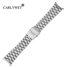 Carlywet 20 22 мм Серебристый полый изогнутый конец твердый