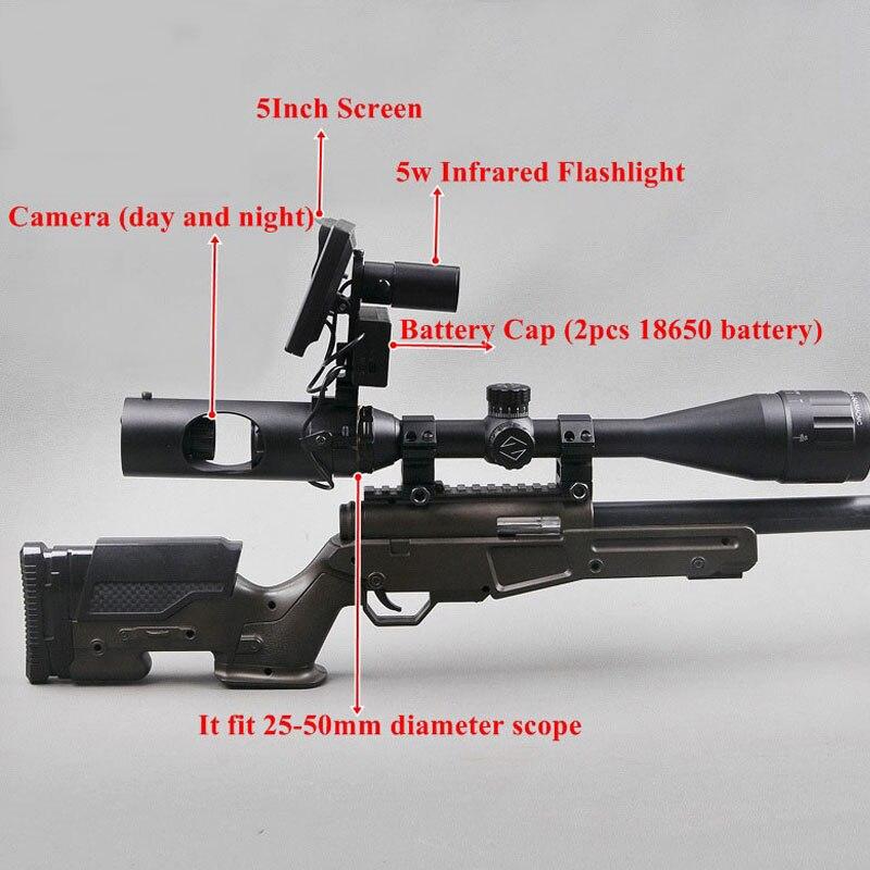 Portée nocturne infrarouge numérique de chasse 200 M nouvelle lunette de Vision nocturne de troisième génération lunette de visée de jour et de nuit - 5