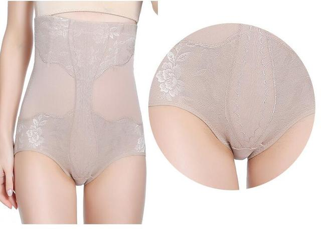 PRAYGER 2pcs Plus size Women High Waist control panties slimming Body lift butt Shaper breathable mesh Briefs Underwear