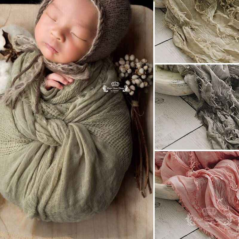 200*70 cm High Quality Jacquard Scarf Fabric Soft Newborn baby Photography Filling Newborn Cheesecloth Wrap, Photo Prop, Newborn