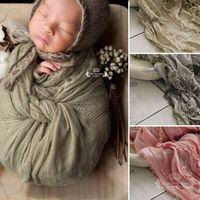 200*70 cm High Quality Jacquard Scarf Fabric Soft Newborn baby Photography Filling Newborn Cheesecloth Wrap, Photo Prop, Newborn