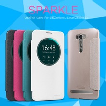 Чехол для Asus Zenfone 2 Лазерная ZE601KL 6 дюймов телефон NILLKIN Искра супер тонкий откидную крышку кожаный чехол с Розницу пакет