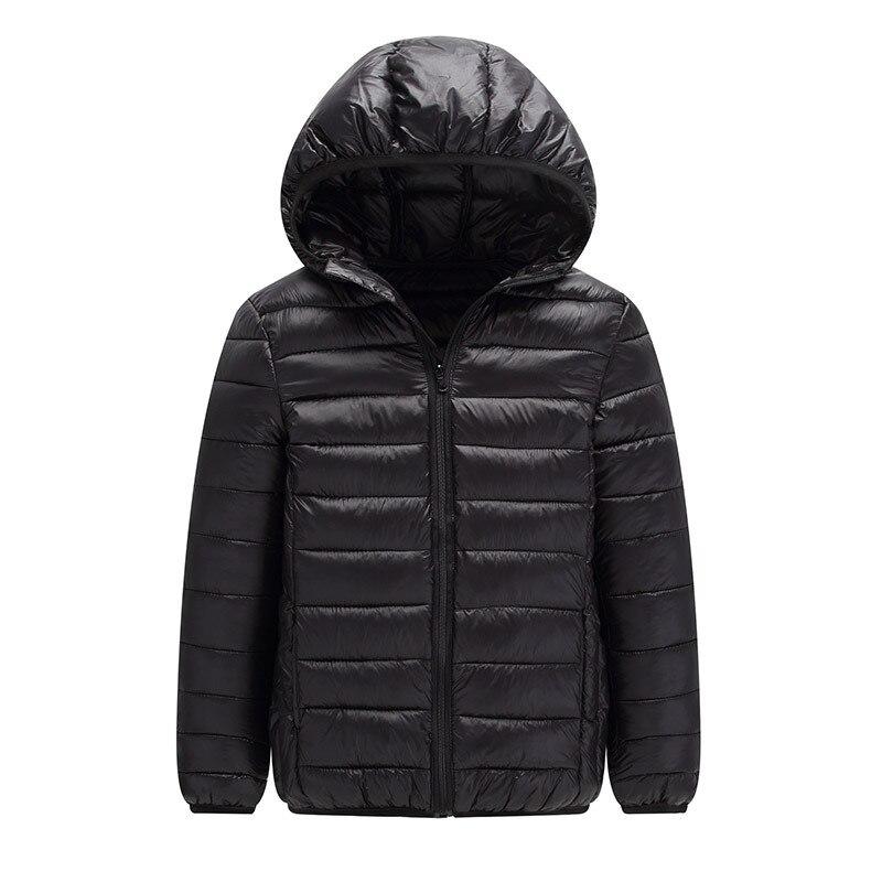 Image 2 - 2019 зимняя куртка высокого качества куртка пуховик для мальчиков детское пуховое пальто на утином пуху, светильник тонкая теплая уличная одежда с капюшоном для девочек 10, 12, 14, 16 лет-in Пальто и парки from Мать и ребенок