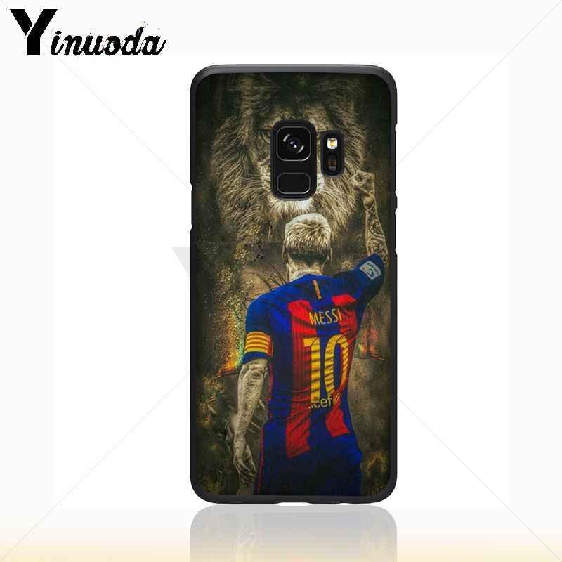 Yinuoda Neymar Messi Bóng Đá Bóng Đá Màu Đen Điện Thoại Di Động Trường Hợp Đối Với Samsung Galaxy s9 s8 cộng với lưu ý 8 note9 s7 s10lite coque