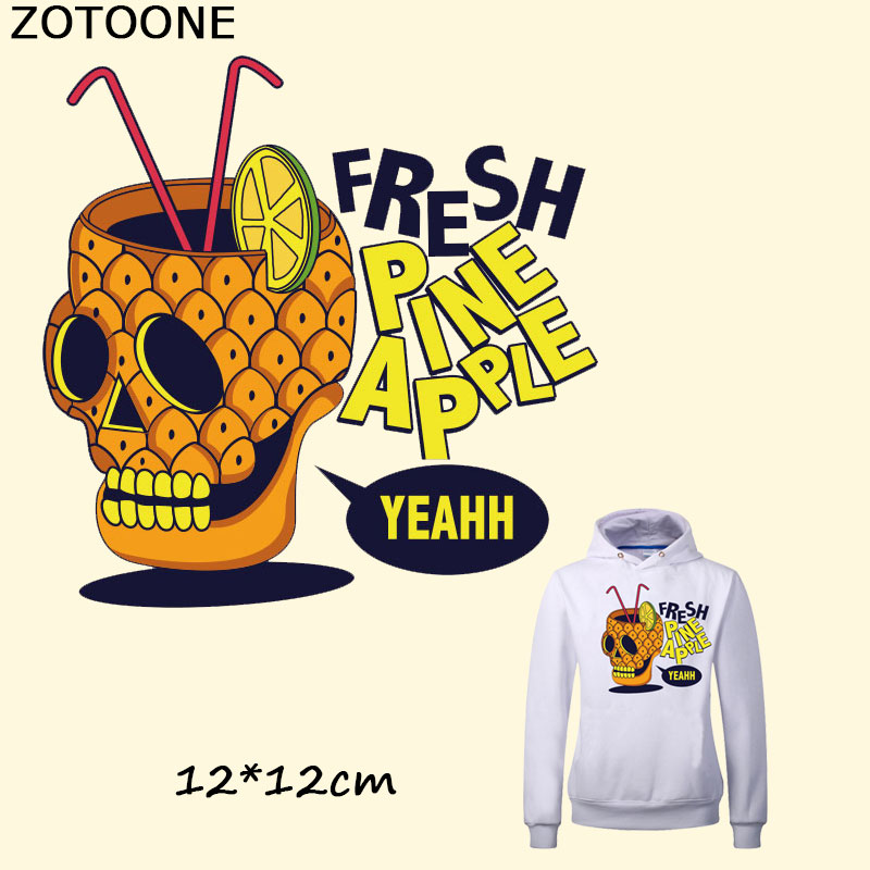 ZOTOONE Punk Skull Patches for Clothes Iron on Transfer Patches T shirt Dresses Sweater Bags DIY Accessory Decoration for Kids E in Patches from Home Garden
