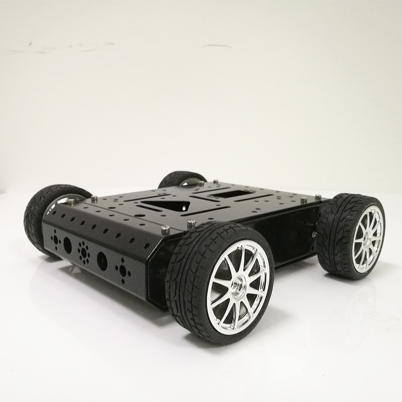 DOIT C3 4WD Smart RC Car Chassis Car Model Kids Car with 12V High Power Motor, 65mm Rubber Wheel for Arduino DIY Toy Parts doit cool and new 6wd robot smart car chassis big load large bearing chassis with motor 6v150rpm wheel skid diy rc toy
