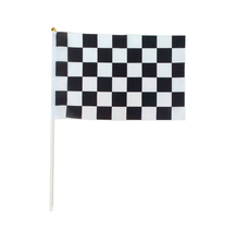 12 pieces dozen 30x45cm 11 81x17 72in black and white race check flags with Plastic