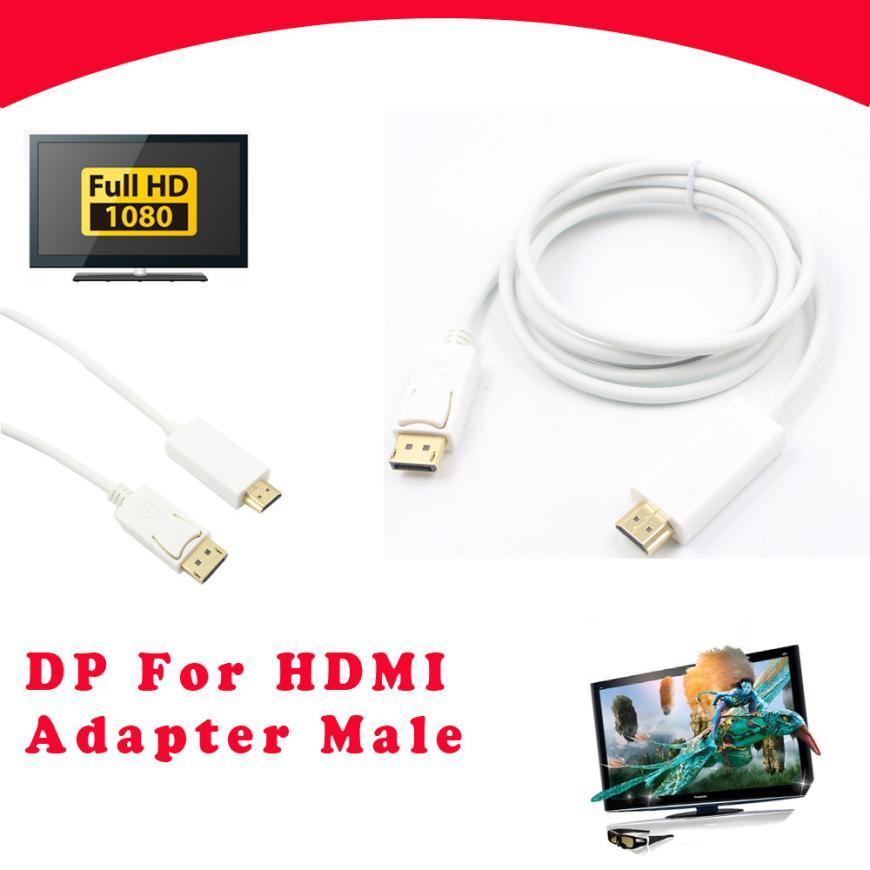 Datenkabel PüNktlich Dp Zum Hdmi 1,8 Mt 1080 P Mit Triple-geschirmt Audio Und Hohe Qualität So Effektiv Wie Eine Fee