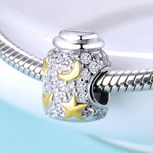 SG silver 925 charm with Star moon bottle bead Fashion charms jewelry making 2019 DIY for Bracelet women gifts
