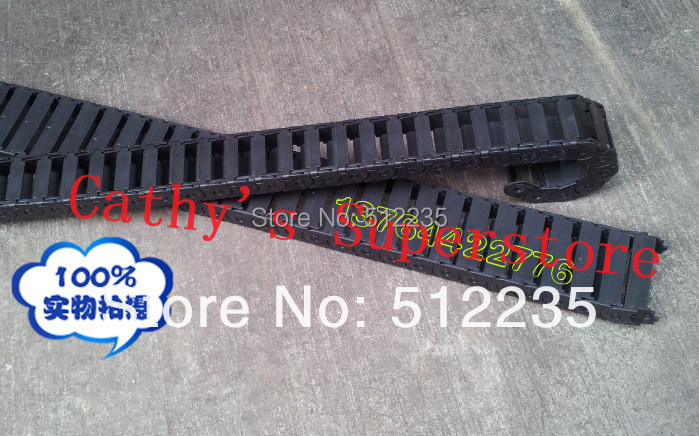UPS Free to USA  Canada Mexico New 2pcs  15X30mm Black Flexible Cable Carrier Drag Chain Nested End Connectors for cnc router mexico 15 16 a