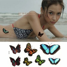 1piece Colorful 42models Rose Arm Butterfly Temporary Tattoo Waterproof Transfer Body Painting Tatoo Sticker 3D Women Sexy