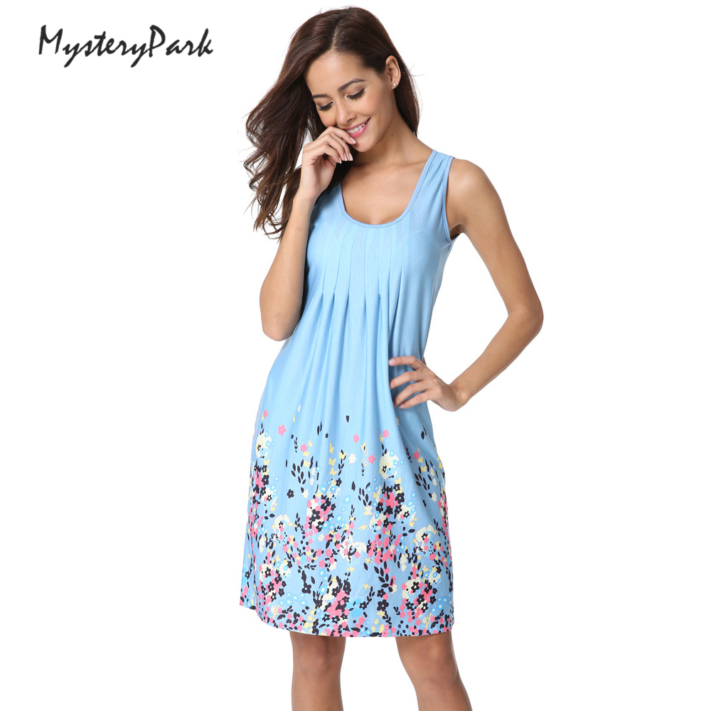 MysteryPark 2018 New Ladies Fashion Sexy Summer Sleeveless Vest Brand Dress High Quality Printed Knitted Women Dresses ilismaba new ladies fashion sexy autumn long sleeved brand dresses high quality printed knitted elastic fabric women s dress