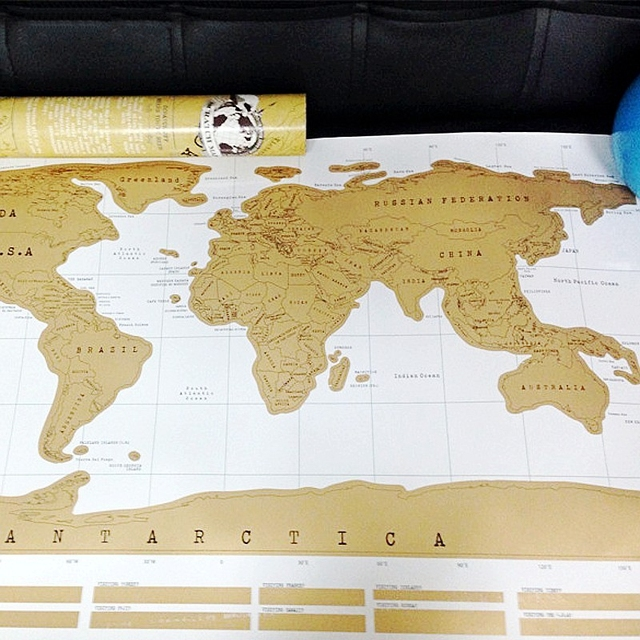 Hot scratch world map personalized scratch off map world map hot scratch world map personalized scratch off map world map poster mapa mundi travel vacation traveler gumiabroncs Images