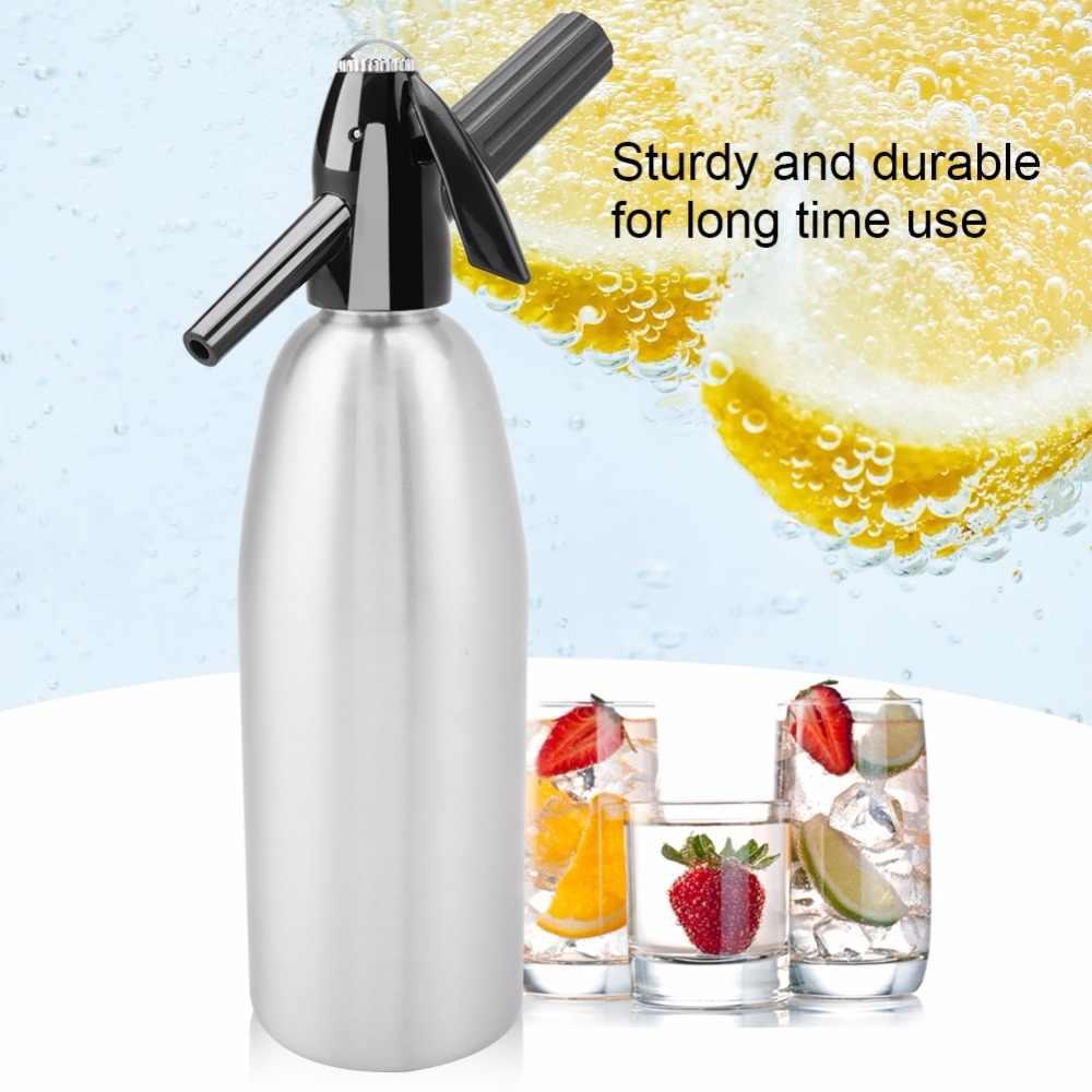 Портативный 1L бутылка с сифоном для охлажденных напитков конвеерная машина для розлива газированных для надувания мыльных пузырей машина DIY коктейль CO2 сифон для содовой чайник Барные инструменты