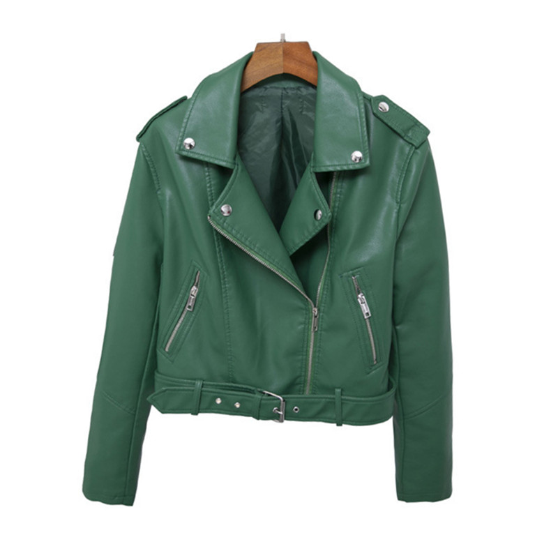 WSYORE   Leather   Jackets 2019 New Spring and Autumn Casual PU Faux   Leather   Short Coat Women Biker Jacket NS1016